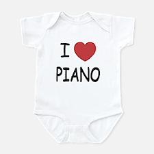 I heart piano Infant Bodysuit