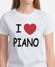 I heart piano Women's T-Shirt