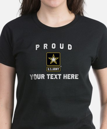 U.S. Army Proud Personalized Women's Dark T-Shirt