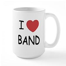 I heart band Mug