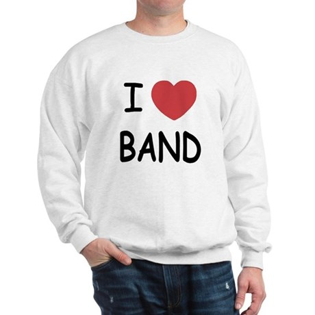 I heart band Sweatshirt