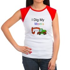 Dig my Lesbian Moms Women's Cap Sleeve T-Shirt