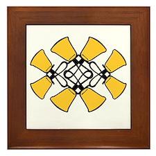 Twined Bells Framed Tile