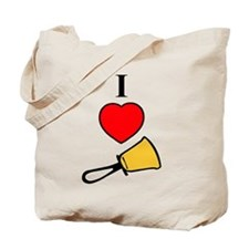 I Love Bells Tote Bag