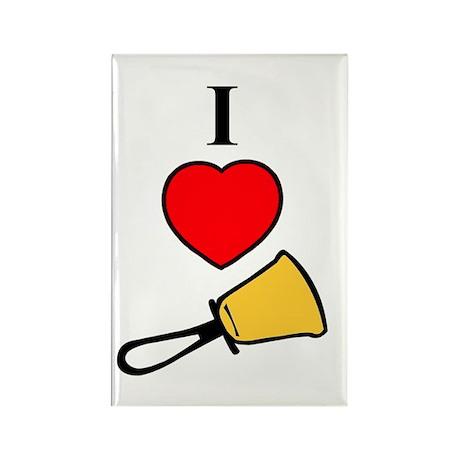 I Love Bells Rectangle Magnet (10 pack)