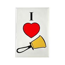 I Love Bells Rectangle Magnet