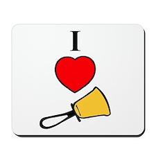 I Love Bells Mousepad
