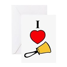I Love Bells Greeting Card