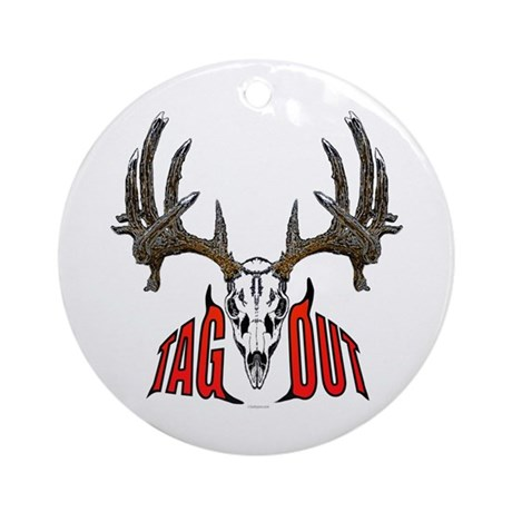 Whitetail deer,tag out Ornament (Round)