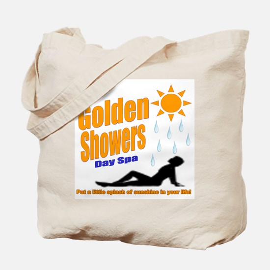 Golden Showers Day Spa Tote Bag