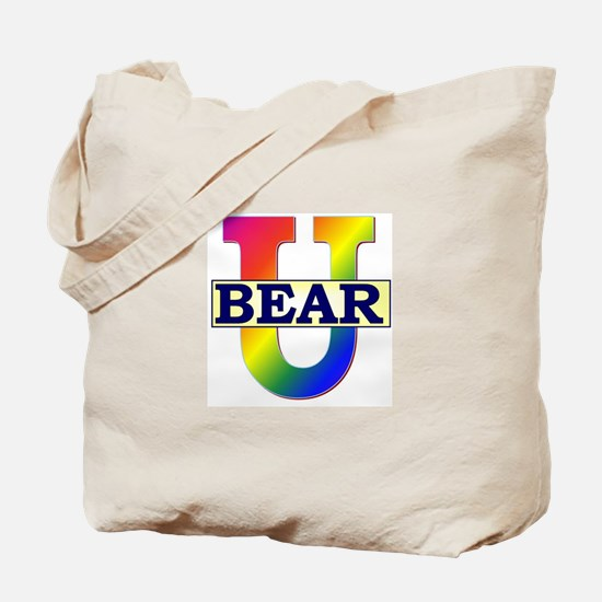 Bear University (Rainbow U) Tote Bag