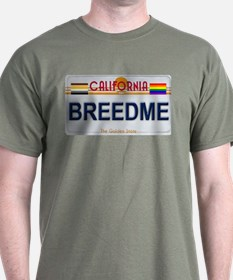 BREEDME California License Plate Color T-Shirt
