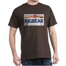 BIGBEAR California License Plate Color T-Shirt