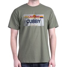 CUBBY California License Plate Color T-Shirt