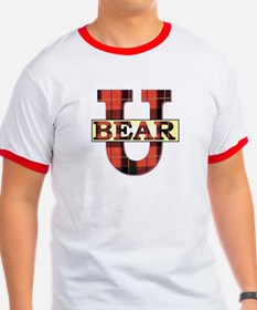 Bear University (Plaid U) Rimmed T-Shirt