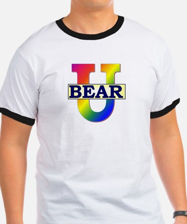 Bear University (Rainbow U) Rimmed T-Shirt