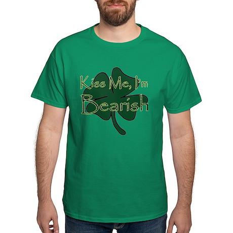 Kiss Me I'm Bearish Dark T-Shirt