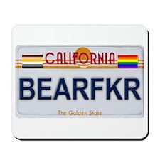 BEARFKR California License Plate Mousepad
