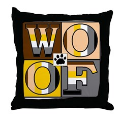 BearBlock (WOOF) Throw Pillow