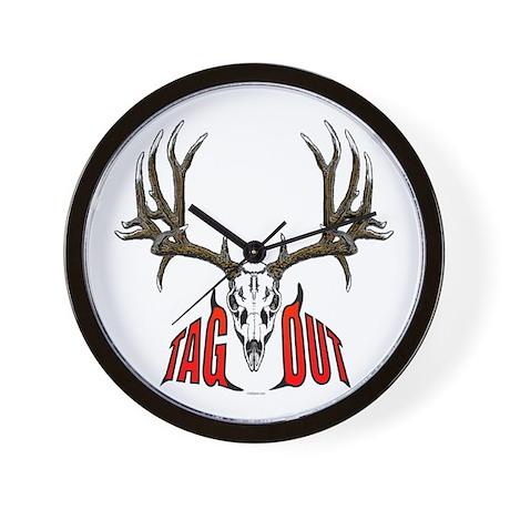 Mule deer tag out Wall Clock