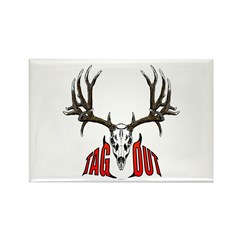 Mule deer tag out Rectangle Magnet (100 pack)