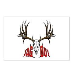 Mule deer tag out Postcards (Package of 8)