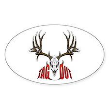 Mule deer tag out Decal