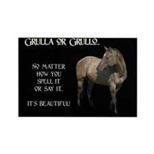 Grulla/Grullo Horse Rectangle Magnet
