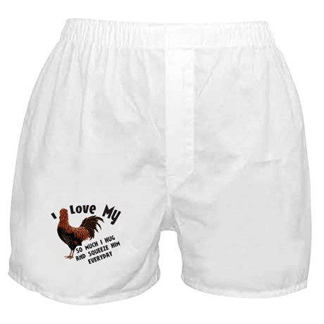 I Love My Rooster Boxer Shorts