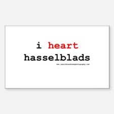 i heart hasselblads Rectangle Decal