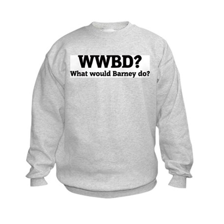 What would Barney do? Kids Sweatshirt