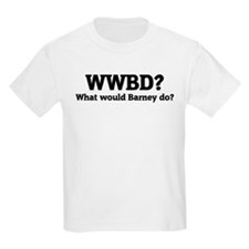 What would Barney do? Kids T-Shirt