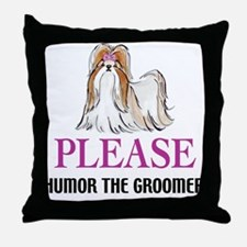 Humor the Groomer Throw Pillow