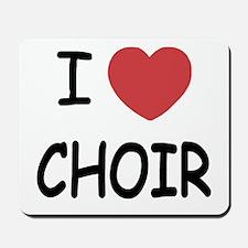 I heart choir Mousepad