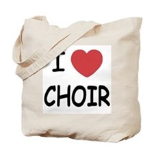 I heart choir Tote Bag