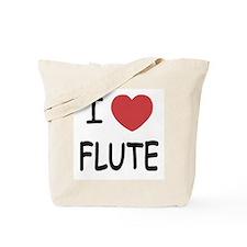 I heart flute Tote Bag