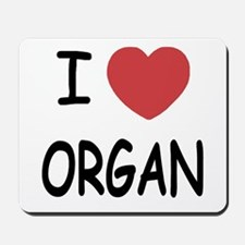 I heart organ Mousepad