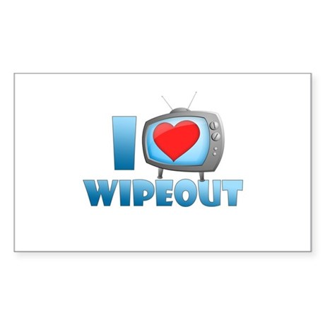 I Heart Wipeout Sticker (Rectangle)