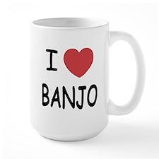 I heart banjo Mug