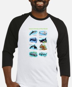 Ocean Animals of the World Baseball Jersey