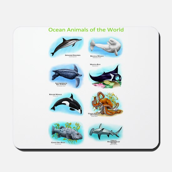 Ocean Animals of the World Mousepad