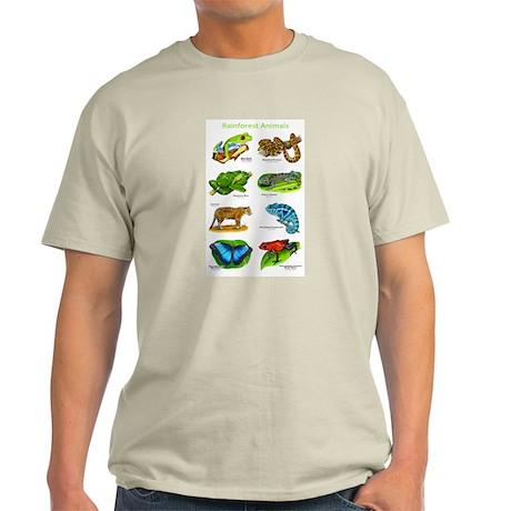 Rainforest Animals Light T-Shirt
