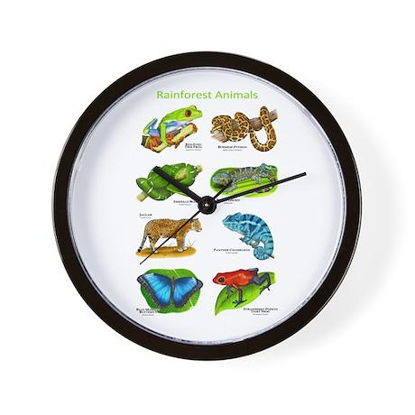 Rainforest Animals Wall Clock