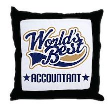 Worlds Best Accountant Throw Pillow