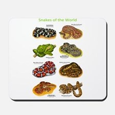 Snakes of the World Mousepad