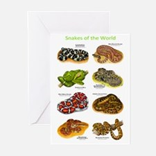 Snakes of the World Greeting Cards (Pk of 10)