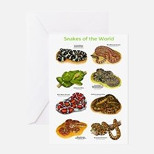 Snakes of the World Greeting Card