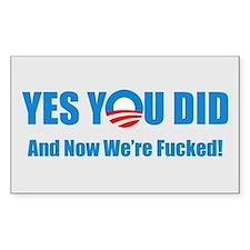 Anti Barack Obama Decal