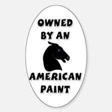 American Paint Oval Decal