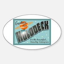Star Trek Holodeck Sticker (Oval)